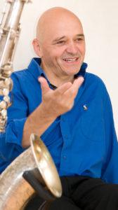 Werner Englert mit Saxofon